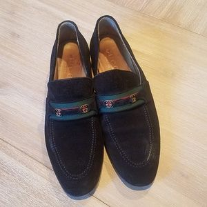 Gucci loafers, black suede